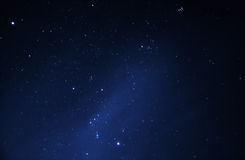 Night sky full of bright stars stock photos