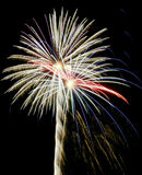 A Night Sky Full of Exploding Fireworks Royalty Free Stock Image
