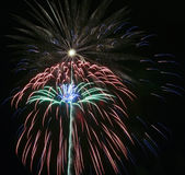 A Night Sky Full of Exploding Fireworks Stock Photos