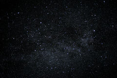 Night sky full of stars, cloudless background royalty free stock photos