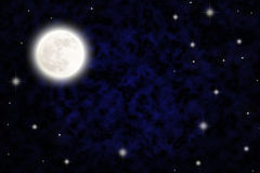 Night sky with fullmoon Royalty Free Stock Images