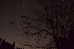 Night sky. Ghost hunting in Gettysburg caught this night sky Royalty Free Stock Images