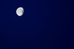 Night sky and half moon Royalty Free Stock Images