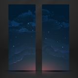 Night Sky Hand Drawn Watercolor Background Royalty Free Stock Photos
