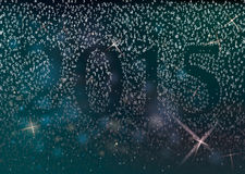 2015 in the night sky Royalty Free Stock Images