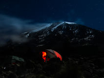 The night sky of kilimanjaro Royalty Free Stock Image