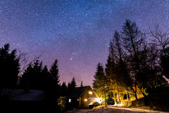 Night sky. Landscape taken at end of year stock photos