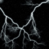 Night Sky lightning Stock Image