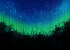 Night sky with many stars Royalty Free Stock Images