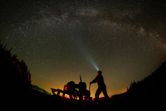 Night sky with milky way Stock Photography