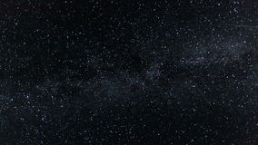 Night sky with milky way galaxy Time lapse - Moving stars twinkle at night - Full HD 1920x1080 stock video footage