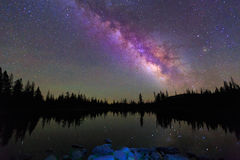 Night sky and the Milky Way. Stock Photography