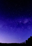Night Sky and Milky Way with Silhouettes. Taken at Patonga, Central Coast, NSW, Australia Royalty Free Stock Photography