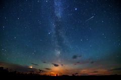 Night sky and milky way royalty free stock photos