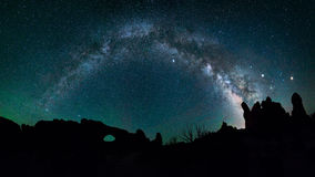 Night sky, Milkyway Galaxy stock photo
