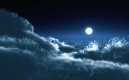 Night sky and moon Royalty Free Stock Image
