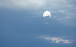 Night sky with the moon Royalty Free Stock Image
