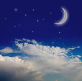 Night sky with moon Royalty Free Stock Photography