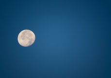 Night Sky With Moon. Background Image of Moon With Copy Space Stock Photos