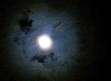 Night sky with moon and cloud Stock Image