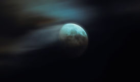 Night sky with moon and clouds Stock Photography