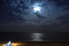 Night sky with moonlight clouds royalty free stock photos