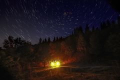 Night sky mountains Stock Photos