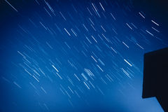 Night sky with moving stars Stock Image
