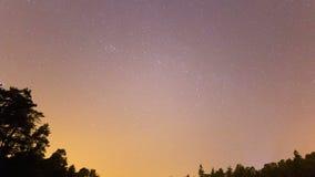 The Night Sky - moving stars and milky way on dark sky stock video