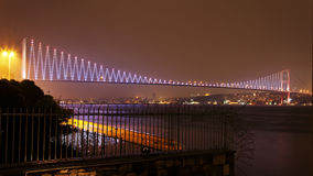 Night sky over Bosphorus, Istanbul Royalty Free Stock Photos