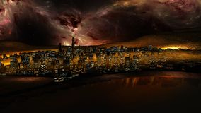 Night sky over the city Royalty Free Stock Photography
