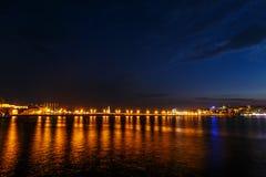 The night sky over the sea in Nessebar Bulgaria Stock Photos