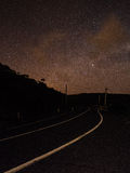 Night sky @ Piha, New Zealand. Night sky filled with thousands of stars over the roads leading to Piha beach in New Zealand Royalty Free Stock Photo