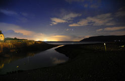 Night sky at Porlock Weir, Somerset Stock Photos