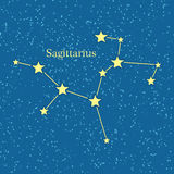 Night Sky with Sagittarius Constellation Vector Stock Image