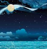 Night sky and sea/ Royalty Free Stock Photography