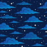 Night sky seamless background 2 Royalty Free Stock Image
