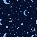 Night Sky Seamless Pattern Stock Photos