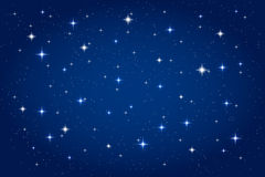Night sky with shining stars background Royalty Free Stock Photography