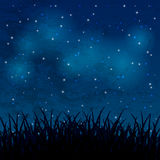 Night sky. With shiny stars and clouds Stock Image