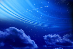 Night Sky with Shooting Star Stock Images