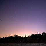 Night sky. With shooting stars Stock Images