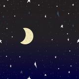 Night sky. The sky vector Stock Image