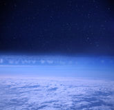Night sky from a space Royalty Free Stock Image