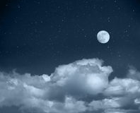 Night sky from a space royalty free stock photos