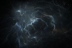 Night sky space background with nebula and stars Royalty Free Stock Image