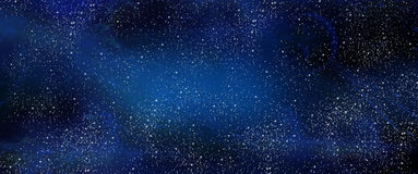 Night sky stars space milky way galaxy cosmos. Night sky, Galaxy sky and stars realistic banner. Abstract blue color milky way galaxy background. Space, Cosmic stock illustration