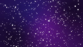 Night sky sparkly stars on purple gradient background. Starry night sky animation with light particles flickering on purple gradient background stock footage