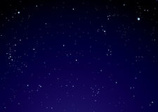 Night sky with star clouds Royalty Free Stock Photos