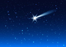 Night sky. Star drops in night sky make wish Royalty Free Stock Photos